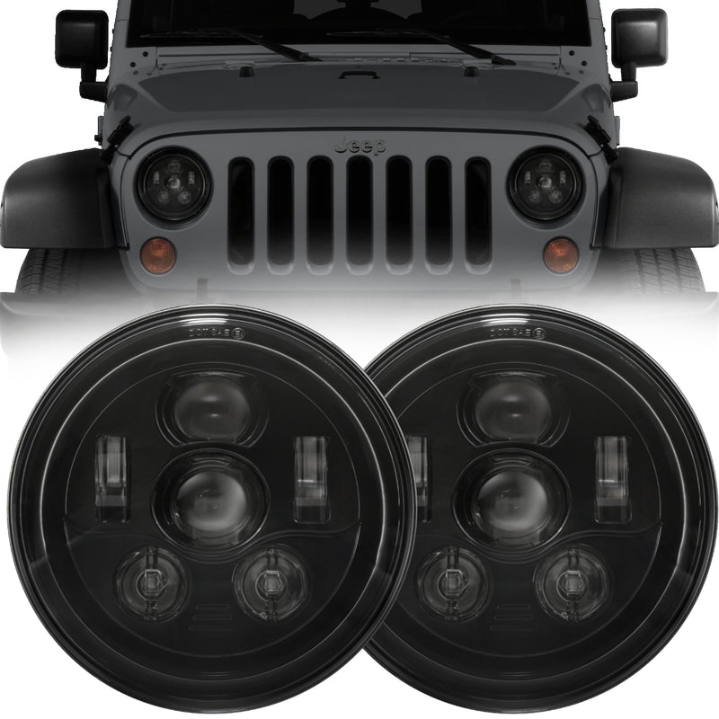 Eagle Lights Generation III Black LED Headlight Kit for 1997-2018 Jeep Wrangler JK, JKU, TJ