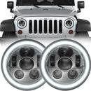 Eagle Lights Generation III Chrome LED Headlight Kit for 1997-2018 Jeep Wrangler JK, JKU, TJ