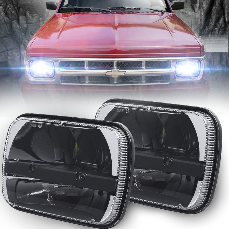 Eagle Lights Complex Reflector LED Headlights for 1988 - 1993 Chevrolet S10 Truck