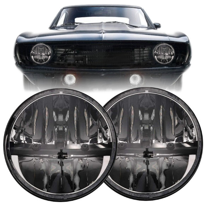 Eagle Lights Complex Reflector Chrome LED Headlight Kit for 1967-1981 Chevrolet Camaro