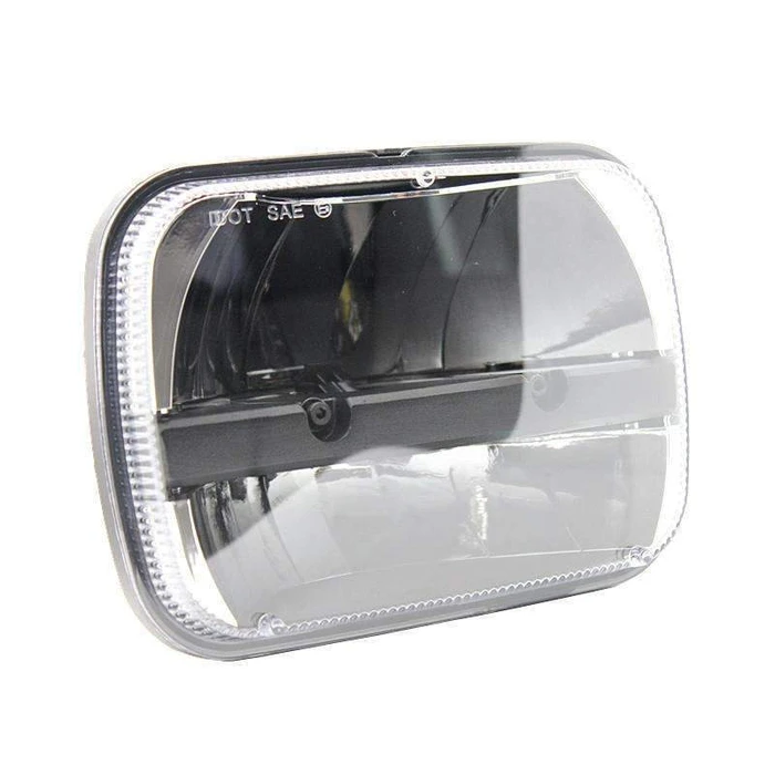 Eagle Lights Complex Refector Chrome LED Headlight Kit for 1983-2005 Jeep Wrangler YJ, Cherokee, XJ