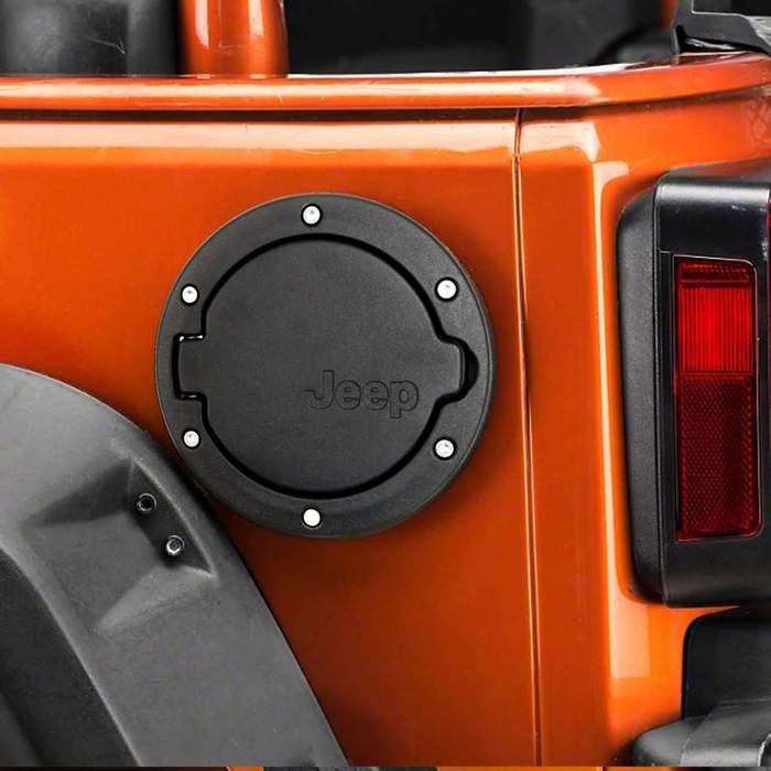 Eagle Lights Jeep Wrangler Fuel / Gas Door for 2007-2018 Jeep Wrangler JK, JKU (2+4 Door Model)