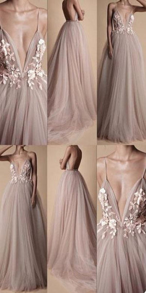 INEZ tulle long prom dress
