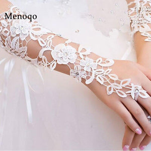 Simple Bride Wedding Gloves