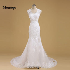 Menoqo High Quality New Fashion Lace Mermaid Wedding Dress