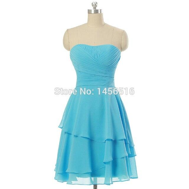 A line mini short Bridesmaid Dress