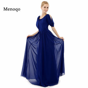 Custom made Short Sleeve Long Evening dress