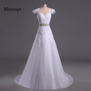Menoqo New Fashionable Elegant Long A Line Wedding Dress