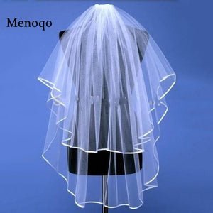 Wholesale Simple White Tulle Wedding Veil