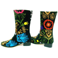Suzani Hand Embroidered Half Boot