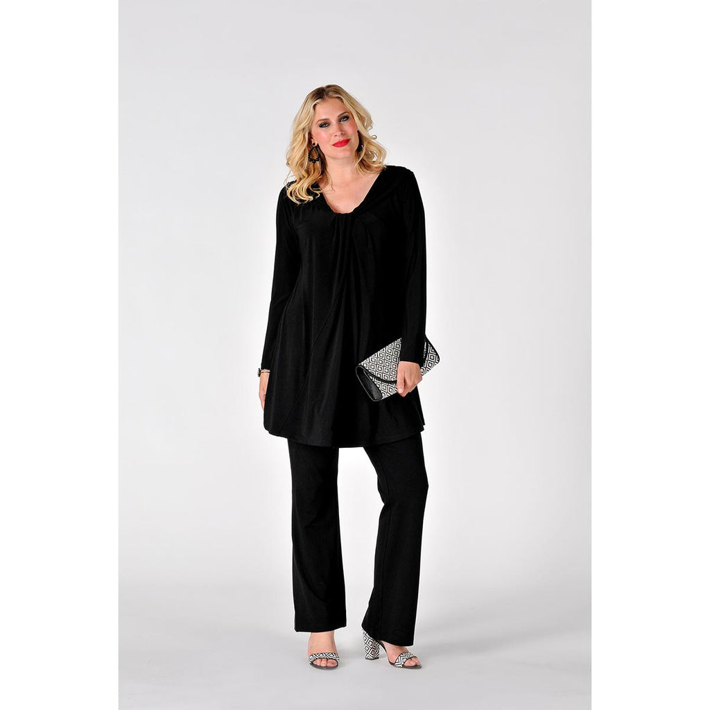 Yoek Tunic with Draping Neck Dolce