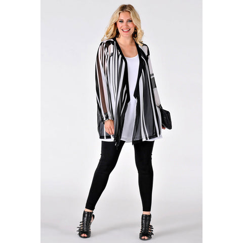 Yoek Cardigan Pointy Graphic