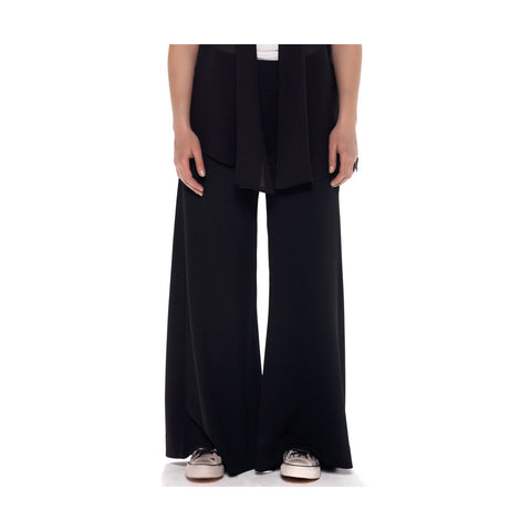 MAT Crepe Textured Wide Leg Pants