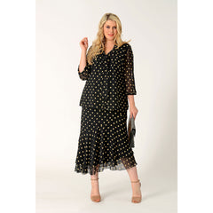 Yoek Black Label-Skirt Long Dots