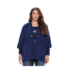 MAT Soft-textured Hooded Cape-like Jacket