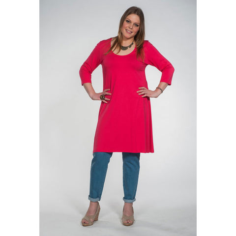 Twister Tunic A-line Round Neck 3/4 Sleeves