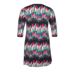 Twister Vegas Tunic A-line Round Neck 3/4 Sleeves