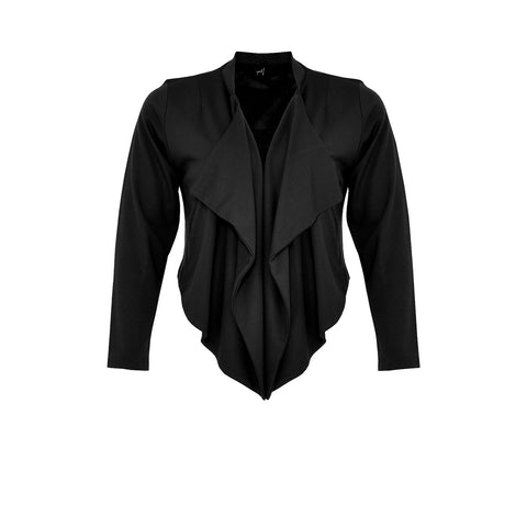 Yoek Jacket Pointy Short Interlock Black