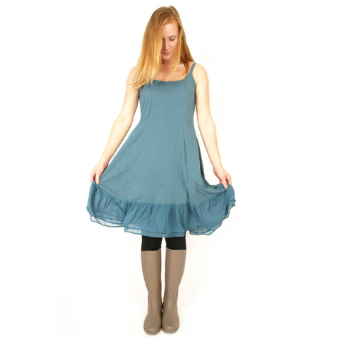 Rimini  Organic Cotton Dress with Chiffon Hem