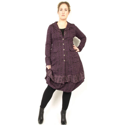 Rimini  Organic Print Coat with Balloon Hemline