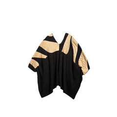 MAT Color-Block Asymmetric Sweater