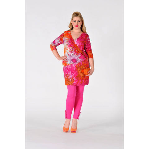 Yoek Tunic Wrap with zipper SEA FLOWER