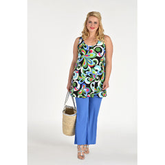 Yoek Sleeveless Tunic Calypso