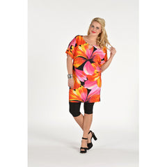 Yoek Shirt Embellished Neck TROPICAL