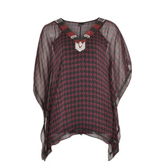 Yoek Blouse Square Check