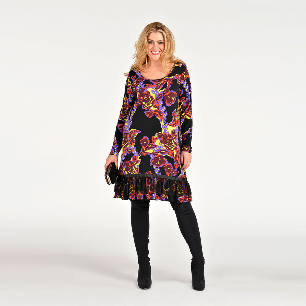 Yoek Fay Tunic With Tulle Bottom