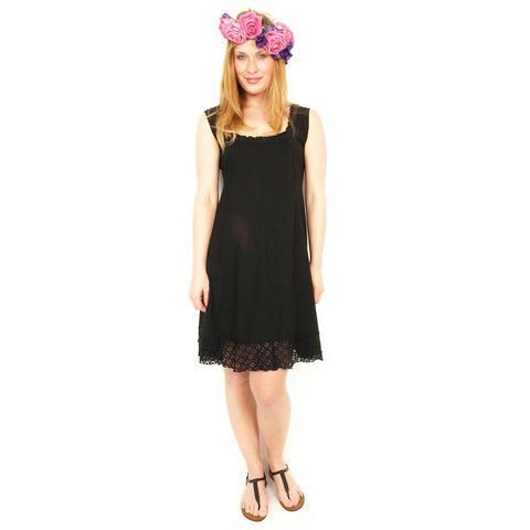 Rimini Basic Dress Sleeveless with Lace Bottom