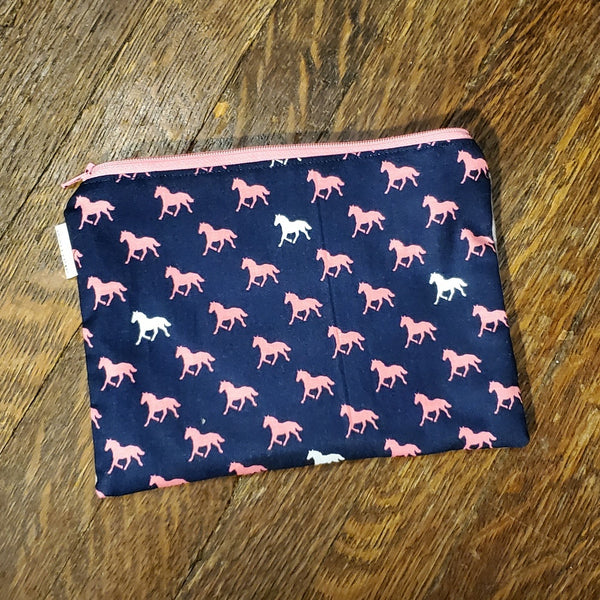 Horses print babywearing zip pouch. Ready to Ship.