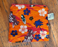 Surf's Up Double-Sided Waterproof Zip Pouch. Ready to Ship.