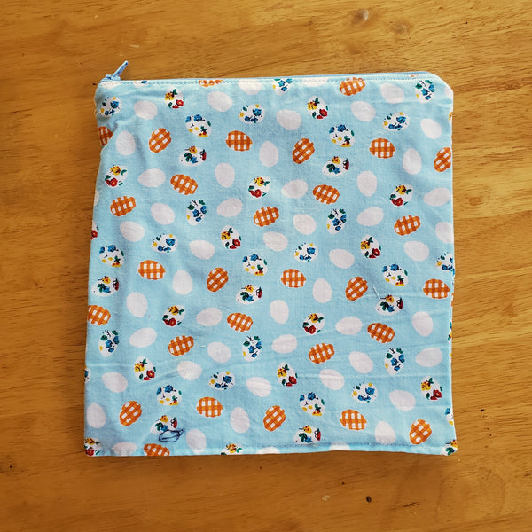 Eggs Small Waterproof Zip Pouch / Wet Bag - Ready to Ship.