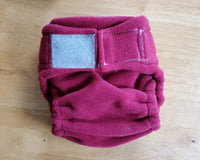 Deep Red Fleecy Diaper Cover