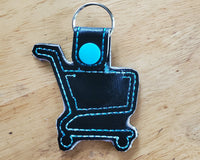 Grocery Store Quarter Keeper - Grocery Cart Quarter Holder Keychain - Black