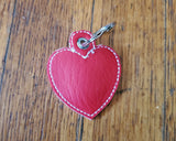 Red Heart Shaped Quarter Keeper - Coin Keeper