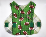 Football and Plaid NICU smock. 5-8 lb. Ready to Ship.