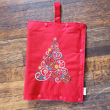 Fancy Christmas Tree - size Medium Insulated Feeding Pump Bag Cover / IV bag cover. Ready to ship.