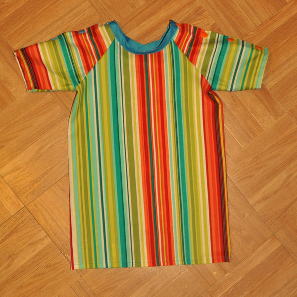 Infant 6/9 Month Bright Stripe Hospital Gown. Ready to Ship.