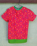 Size 2/4 Bright Red Stars Children's Hospital Gown. Ready to Ship.
