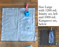 SET of Custom Made Feeding Tube Accessories - Insulated Feeding Pump Bag Cover, 2 Cord Clips, Connector Cover
