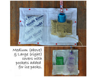SET of Custom Made Feeding Tube Accessories - Insulated Feeding Pump Bag Cover + Cord Clip