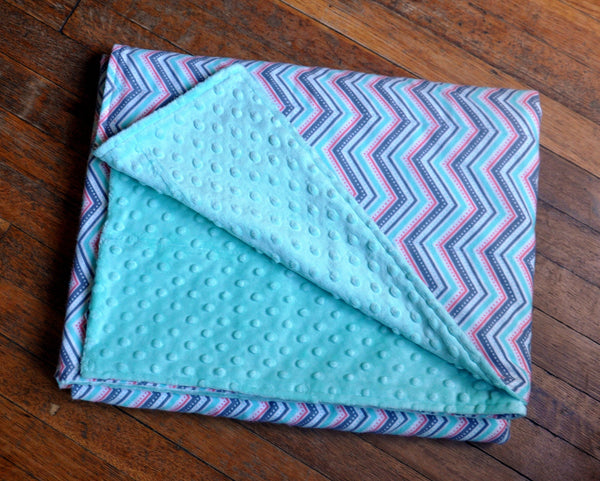 Peaceful Chevrons Semi Custom Weighted Blanket - Size LARGE - You choose weight