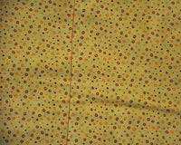 Sunny Dots with Dark Red All Cotton Semi Custom Weighted Blanket - Size LARGE - You choose weight
