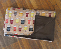 Glasses of Beer Semi Custom Weighted Blanket - Size LARGE - You choose weight