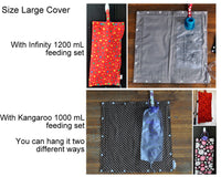 Custom Made Insulated Feeding Pump Bag Cover / IV Bag Cover to keep your feed cool.
