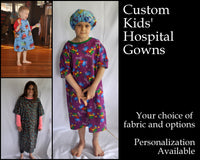 CUSTOM Kids Hospital Gowns - Make Their Stay Less Scary With These Fun Gowns