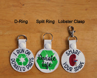 Share Your Spare Organ Transplant Keychain, Key Fob.