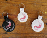 Anatomical Stomach Keychain - with or without custom text - two sizes